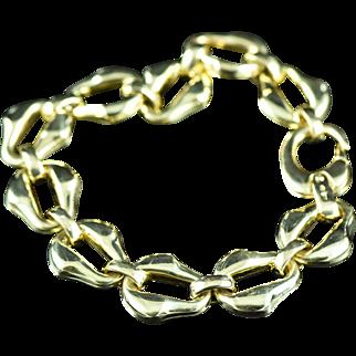 "Vintage 18K Fancy Link Bracelet 8"" Yellow Gold"