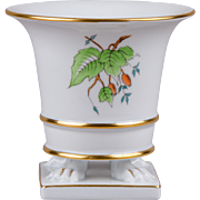 Herend Rosehip Pattern Claw Footed Cachepot