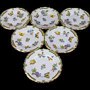 Set of Six Herend Queen Victoria Salad Plates, 6 Pieces