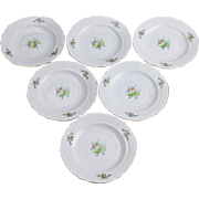 Set of Six Herend Rosehip Pattern Dessert Plates, 6 Pieces