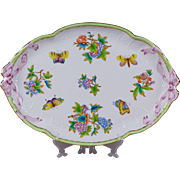Herend Queen Victoria Large Ribbon Platter