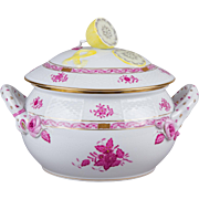 Herend Chinese Bouquet Raspberry XLarge Soup Tureen with Lid and Handles