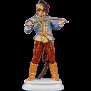 "Herend 16"" Tall Hadik Hussar, Man with Sword Statue"