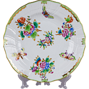 Herend Queen Victoria Deep Dinner Plate from 1948