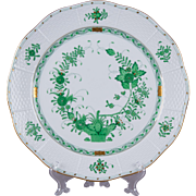 Herend Indian Basket Green Round Serving Plate