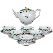 Herend Persil Pattern Tea Set for Six People, 14 Pieces