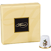 Herend Rothschild Bird Thimble, Brand New with Original Box
