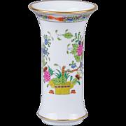Herend Indian Basket Multicolor Decorative Vase