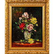 Signed FRATULI 935 | Flower Bouquet (Hungarian Painting)