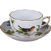 Herend Modern Rothschild Bird Tea Cup with Saucer