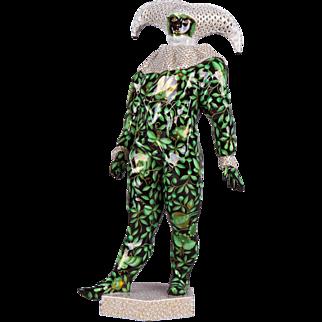 Herend ZOVA Pattern Venetian Clown Carnival Figurine, Masterpiece, First Edition
