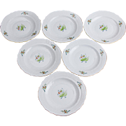 Set of Six Herend Rosehip Pattern Dessert Plates, 6 Pieces