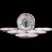 Set of Six Herend Oriental Song Pattern Dessert Plates