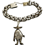 Mexican Sterling Silver Sombrero Man, silver 900 Bracelet