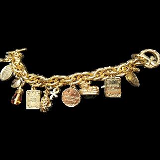 Dexter Wilson Signed Charm Bracelet Vintage 1950s