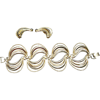 Berger Bracelet and Clip-on Earring Set