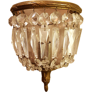 Vintage French Crystal Sconce