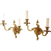 Pair of Vintage Louis XV Style Sconces
