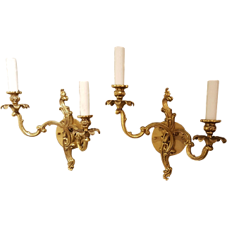 Pair of Vintage Louis XV Style Sconces