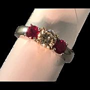 Estate 14kt Diamond .75 carats & Ruby .50ctw. Ring