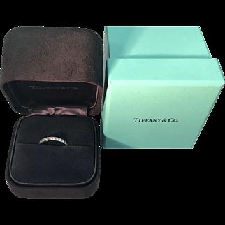 Tiffany & Co. Platinum Diamond Eternity Band 1.4 carats Size 6