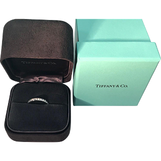 Tiffany & Co. Platinum Diamond Eternity Band 1.4 carats Size 6