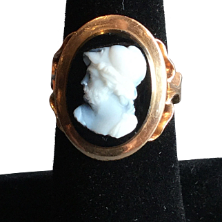 14k Rose Gold Cameo Ring