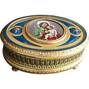 Large Gilt, Enamel & Bronze Doré Box
