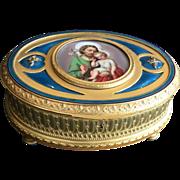 Large Gilt, Enamel & Bronze Doré Box