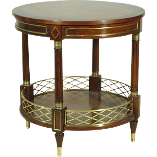 Neoclassical Style Inlaid Occasional Table