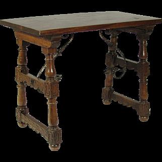 18th-C. Spanish Trestle Table