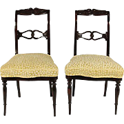 19th-C. Swedish Side Chairs, Pair