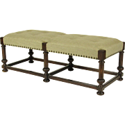 French Baroque-Style Oak Bench