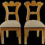 Biedermeier Side Chairs, Pair