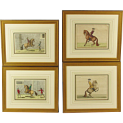 19th-C. French Equestrian Engravings