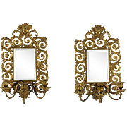 Baroque-Style Girandole Mirrors, Pair