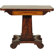 19th-C. American Classical Card Table