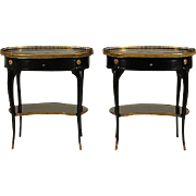 French Chinoiserie End Tables, Pair