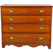 19th-C. Federal Cherry Chest