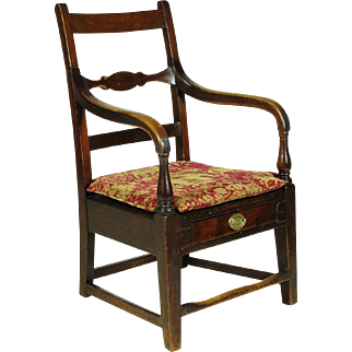 19th-C. Federal Lolling Chair