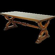 19th-C. English Trestle Table