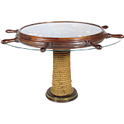 Vintage Ship's Wheel Table