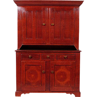 19th-C. American Painted Cupboard