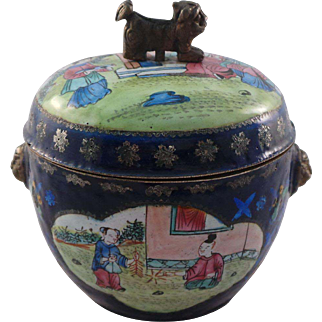 19th Century Chinese Miniature Enamelled Kamcheng Circa 1830