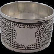 Unusual Antique Sterling Silver Thimble Design Napkin Ring Birmingham 1905