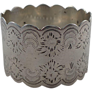 Pretty Antique Sterling Silver Napkin Ring Sheffield 1898