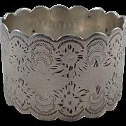 Pretty Antique Sterling Silver Napkin Ring Sheffield 1898