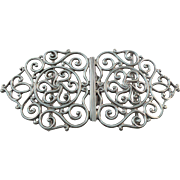 Pretty Antique Sterling Silver Nurses Buckle Birmingham 1899