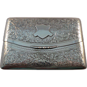 English Antique Sterling Silver Card Case Birmingham 1904
