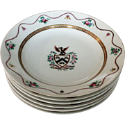 Chinese Export Porcelain Armorial Bowls, SARGENT Family